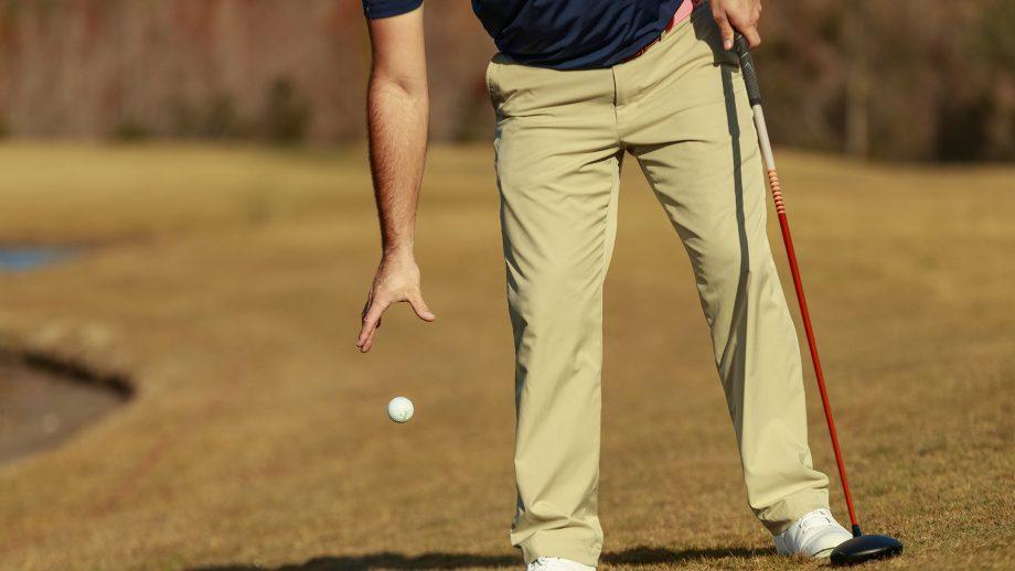 Rules of Golf knee drop in 2019