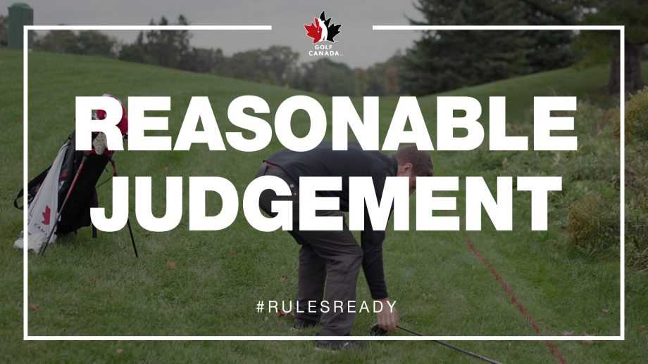 Rules of golf: Use reasonable judgement